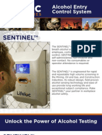Sentinel Automatic Breath Alcohol Testing Station