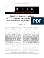 Non US Regulators and CFTC Proposed Interpretive Guidance on Cross Border Regulation