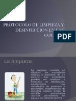 Protocolo de Limpieza y Desinfeccion en Las Cocinas