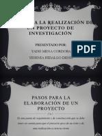 Pasos Para Proy Investigativo