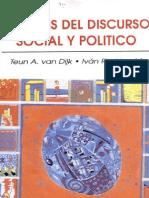 Analisis Del Discurso Social y Politico Van Dijk e Ivan Rodrigo Mendizabal