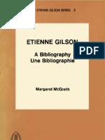 McGrath M., Etienne Gilson. a Bibliography, 1982