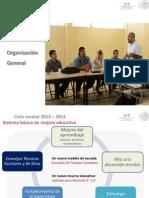 Consejos Técnicos Escolares. organización general. 2013
