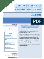 Conflictos Sociales Abril 98