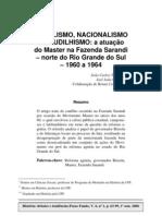 Populismo, nacionalismo e caudilhismo - a atuação do Master na Fazenda Sarandi - norte do Rio Grande do Sul - 1960 a 1964
