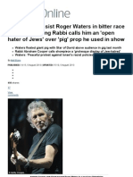 Pink Floyd Bassist Roger Waters Called Antisemitic by Rabbi in Race Row _ Mail Online