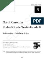 Grade 8 Math Released