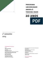 Catalogo Cursos USP 3idade2013 2sem