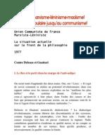 Badiou 1977 - Contre Deleuze Et Guattari