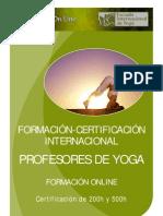 Folleto Formacion Yoga Online