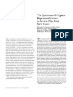 The Spectrum of Organic Depersonalization (ANG)