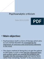 Psychoanalytic Criticism(20111205)