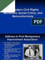 chapter31themoderncivilrightsmovementsocialcriticsandnonconformists-120413082441-phpapp02