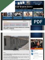 06-08-13 SHF Y NAFIN FINANCIARAN DESARROLLADORAS DE VIVIENDAS PEQUEÑAS Y MEDIANAS