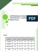 Aprendizaje Basado en Proyectos , Curriculo y Didactica
