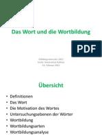 Das Wort Und Die Wortbildung 2012
