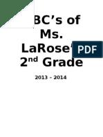 ABCs of 2nd Grade 2012 - 2013
