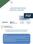 Presentanci+¦n exp directivos-docentes CUYO