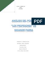 Trabajo Los Profesores Nicanor Parra