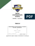 Effectiveness and Efficiencies of PMCs