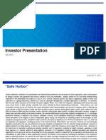 Moody's 2013 Investor Presentation