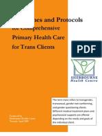 Trans Healthcare Protocalls - Sherbourne