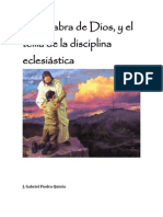La Palabra de Dios y el tema de la disciplina eclesiástica