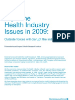 Top 9 Health Industry Issues in 2009