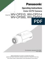 Operating Instructions Panasonic cctv