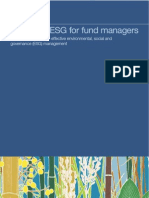 Toolkit on ESG for Fund Managers