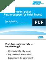 tidal energy in UK - UK Govt Climate Dept