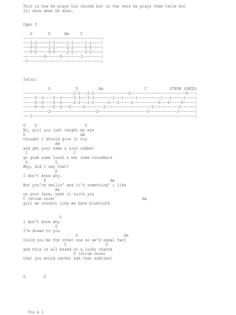 Guitar Chords Song Structure Bass Guitar