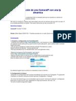 Configuración de una CamaraIP con una Ip dinamica
