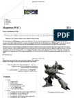 Megatron (WFC) - Transformers Wiki
