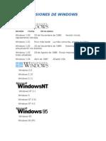 Versiones de Windows Deber