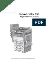 Bizhub c350 Manual