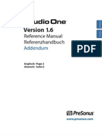 Studio One 1.6 - Reference Manual Addendum