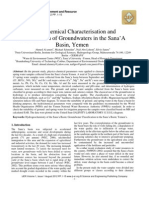 Hydrochemical Characterisation and Classification of Groundwaters in the Sana'A Basin, Yemen