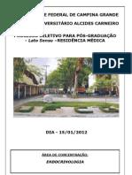 Prova Endocrinologia Residencia Medica2012