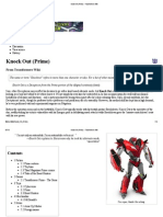 Knock Out (Prime) - Transformers Wiki