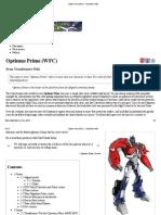 Optimus Prime (WFC) - Transformers Wiki