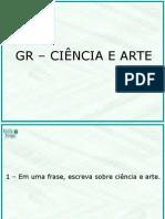 apresentação ciencia e arte