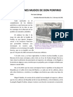 LOS CAÑONES MUDOS DE DON PORFIRIO