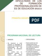 AVANCES Y DIFICULTADES DE LOS PROGRAMAS DE FORMACIÓN