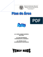 Plan de Asignatura de Artes 2013