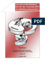 Conceptual and Methodological Opportunities for the Victorian DPI and systems thinking and practice