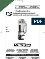 Roto Zip Owners Manual