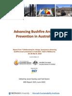 Advancing bushfire arson prevention in Australia