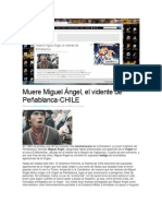 CHILE-Caso Peñablanca-Muere Miguel Ángel