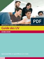 Guide Des UV UTBM - Universite de Technologie de Belfort-Montbeliard